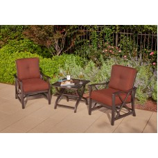 Haywood Aluminum 3 Piece Chat Set (2 Chairs 1 Slat Table)